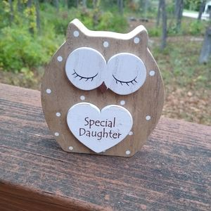 Special Daughter Dreamy Wooden Standing Owl